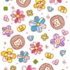 お花とハリネズミのカード02