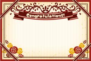 卒業おめでとうカード