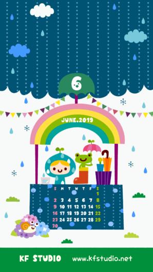 2019年06月iPhone壁紙カレンダー