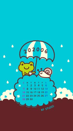 2020年06月iPhone壁紙カレンダー
