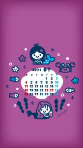 2021年07月壁紙カレンダー