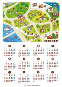 2020-21年間カレンダー