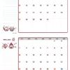 2021年03-04月カレンダー(書込欄付き)