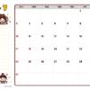 2021年07月カレンダー(書込欄付き)
