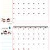 2021年07-08月カレンダー(書込欄付き)