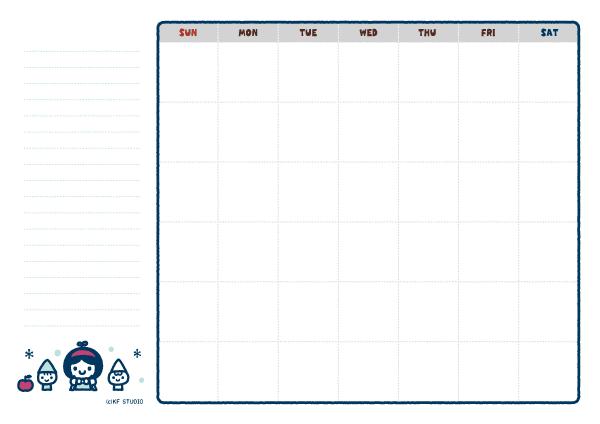 いつでもカレンダー(しらゆきひめ)