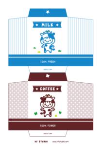 ウシさん牛乳ぽち袋