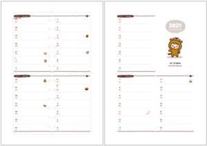 ミニ6穴サイズの2021年版スケジュール帳・週間