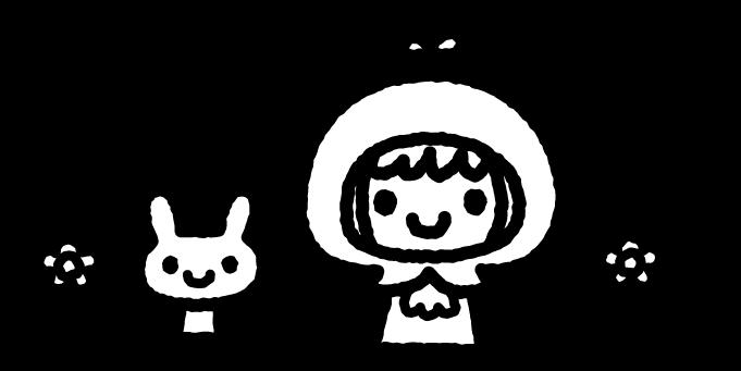赤ずきんちゃんのイラスト01(白黒)