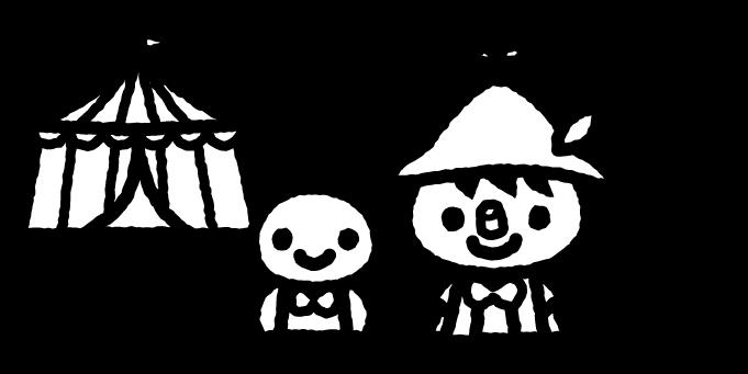 ピノキオのイラスト01(白黒)