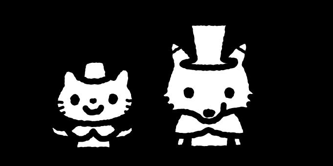 ピノキオのイラスト02(白黒)