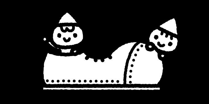 こびとのくつやのイラスト01(白黒)