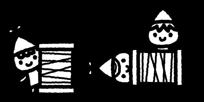 こびとのくつやのイラスト02(白黒)