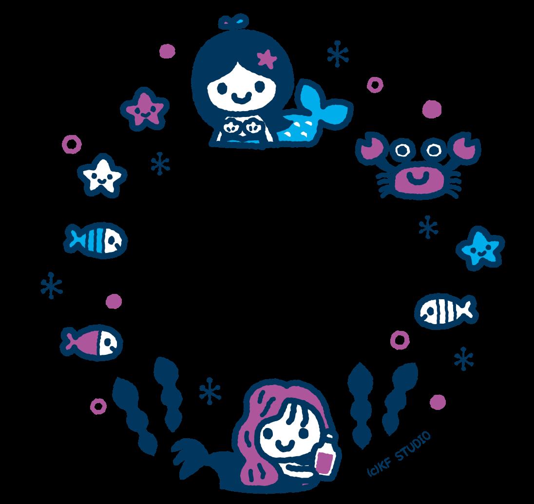 人魚姫のイラストフレーム