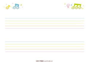 五線譜(2段)