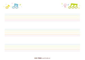 五線譜(3段)