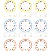 時計の読み方・練習表