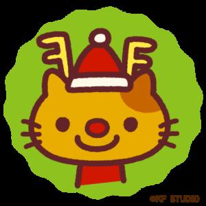 クリスマスアイコンねこ