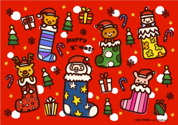 クリスマスランチョンマット(赤)